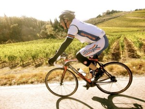 Bruce Hotaling rides in L'Eroica through Tuscany in 2011.